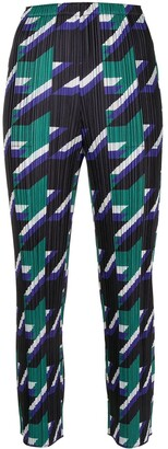 Pleats Please Issey Miyake Shooting Star cropped trousers
