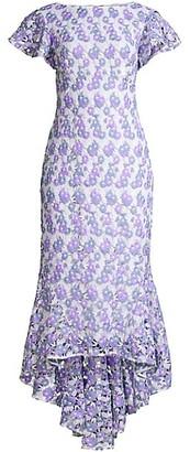 Shoshanna Genoveva Lace High-Low Dress