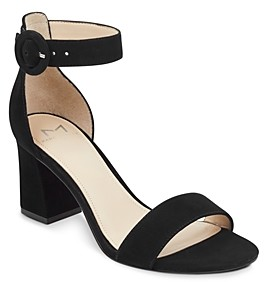 Marc Fisher Women's Karlee Suede Block Heel Sandals