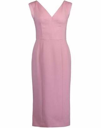 Dolce & Gabbana Sleeveless Portrait V-Neck Dress