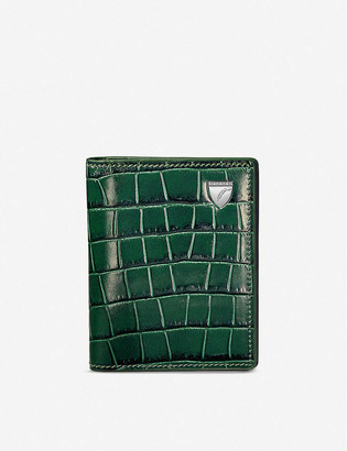 Aspinal of London Snake-embossed ID and travel card leather case