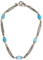 Scott Kay Blue Topaz Station Necklace