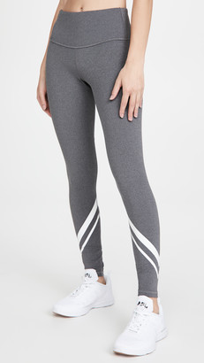 Tory Sport Melange Side Pocket Chevron Leggings