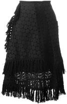 See by Chloe crochet layered skirt - women - Cotton/Polyester/Viscose - 38