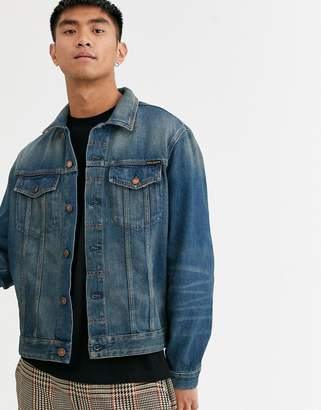 Nudie Jeans Jerry denim jacket in dark worn-Blue