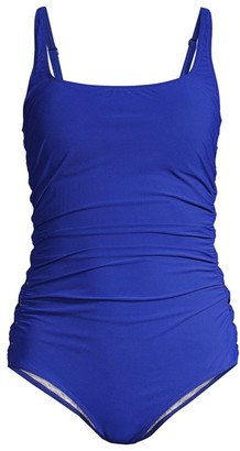 Gottex Swim Solid Ruched One-Piece Swimsuit
