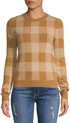 Theory Checkered Cashmere Sweater