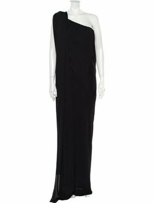 Narciso Rodriguez One-Shoulder Long Dress Black