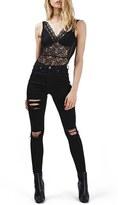 Topshop Women's Lace & Mesh Bodysuit