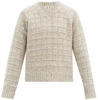 Marni V-neck Garter-ribbed Sweater - Grey