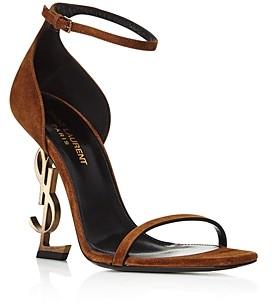 Saint Laurent Women's Opyum Logo-Heel Sandals