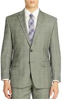 Lauren Ralph Lauren Grid Patterned Wool Suit Jacket