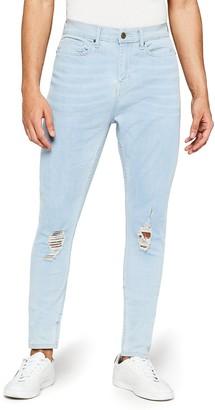 Find. Men's Super Skinny Mid Rise Distressed Jeans