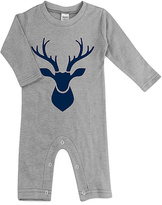 Urban Smalls Light Gray Stag Head Playsuit - Infant