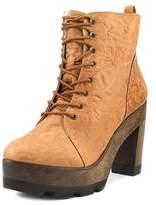 Kelsi Dagger Farren Women Round Toe Leather Tan Ankle Boot.