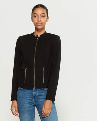 Calvin Klein Luxe Stretch Zip Jacket