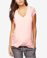 A Pea in the Pod Maternity Linen V-Neck Top