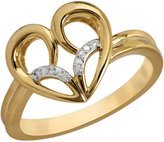 Jessica Simpson Heart Ring with Diamond Accent in 10k Yellow Gold