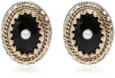 Givenchy Crystal Earrings With Imitation Pearl