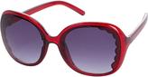 Accessorize Tia Scalloped Square Sunglasses