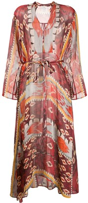 Forte Forte Geometric Print Mid Dress