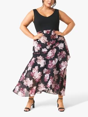 Forever New Curve Bridget Floral Print Wrap Dress, Winter Bloom