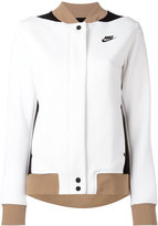 Nike tri-colour varsity jacket - women - Cotton/Polyester - S
