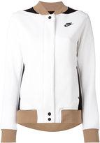 Nike tri-colour varsity jacket