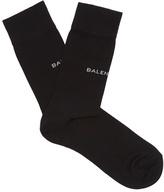 Balenciaga Logo-intarsia cotton-blend socks