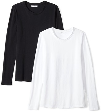 Daily Ritual Amazon Brand Women's Stretch Supima Long-Sleeve Crew Neck T-Shirt