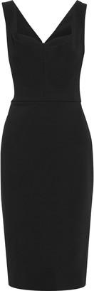 Victoria Beckham Pleated Stretch-ponte Dress