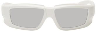 Rick Owens White Larry Sunglasses