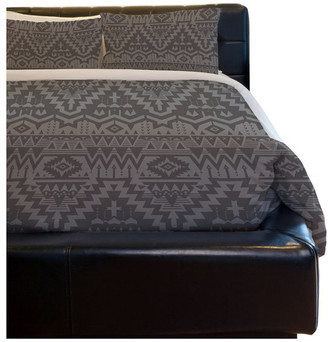 One Bella Casa Tribal Zigzags , Taupe Lightweight Full Queen Duvet Cover