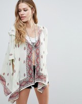 Raga Endless Love Patterned Hooded Kimono