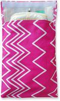Tiny-Tote-Along Zig Zag Print Diaper Bag in Pink/White