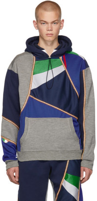 Ahluwalia Multicolor Beaded Overstitch Patchwork Hoodie