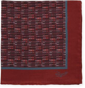 Ermenegildo Zegna Cityscape Silk Pocket Square