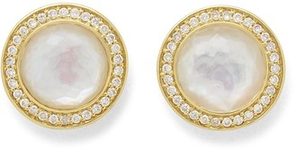 Ippolita 18kt yellow gold Lollipop mother-of-pearl and diamond stud earrings