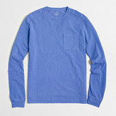 J.Crew Factory Tall long-sleeve sunwashed garment-dyed T-shirt