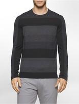 Calvin Klein Colorblock Stripe Merino Blend Sweater
