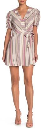 BCBGeneration Short Sleeve Woven Wrap Dress