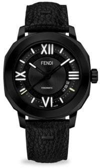 Fendi Selleria Black Stainless Steel& Alligator Watch