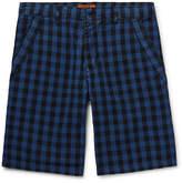 Barena Buffalo Checked Cotton Shorts