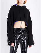 Unravel Reversible stretch-cotton cropped hoody