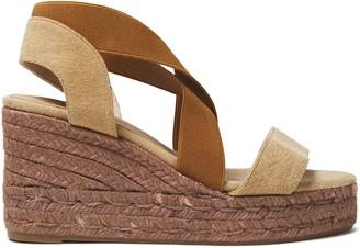 Castaner Bernard Color-block Canvas Wedge Sandals