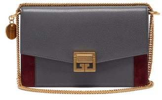 Givenchy Gv3 Mini Leather And Suede Cross-body Bag - Womens - Grey Multi