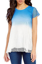 Westbound Cap Sleeve Mesh Tunic