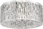 Quoizel Platinum Grotto 6-Light Flush-Mount Ceiling Fixture in Polished Chrome