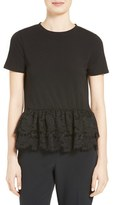 Kate Spade Women's Tiered Lace Flounce Tee