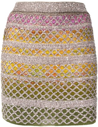 Missoni Embellished Knitted Skirt